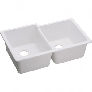 Elkay Quartz Offset Double Bowl Undermount Sink