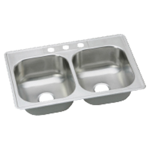 Dayton Top Mount Double Bowl Sink